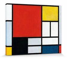Piet Mondrian - Komposition Rote Fläche Poster Leinwand-Druck (50x40cm) #87130