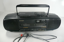 Sharp QT-CD5A Stereo AM/FM Radio Cassette CD Player Boom Box 1991 TESTED Vintage