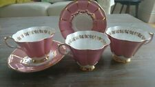 Queen Anne china pink lace 133 teacups x 3