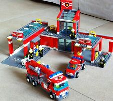 lego 7945 fire station used complete