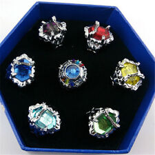 7pcs Katekyo Hitman Reborn the Vongola Family Cospaly Rings in Box Collectables