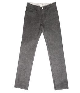 Brioni Men's Black Grey Cotton Jeans Livigno Regular Fit, Size 30, 32, 40, 42