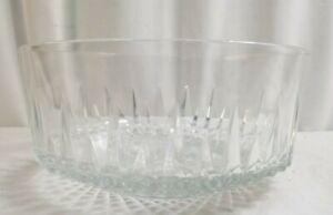 "9"" ARCOROC USA Crystal Fruit or Candy Bowl NICE"