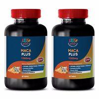 Natural Testosterone Booster Tablets - Maca Plus 1300mg - Zinc 50 2B