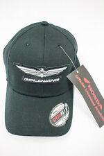 Goldwing Logo Flex Fit Hat Black w/ Silver Logo S/M (HL724BLK) By Wingstuff