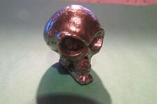 Pewter Roswell Space Alien Skull Figurine Area 51