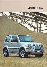 Suzuki Jimny Accessories 2003-04 UK Market Sales Brochure