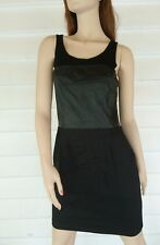Oxford Woman Dress Size 10 Black Body Con Sleeveless NEW RRP$259 Leather Bust