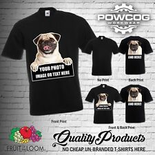 PERSONALISED CUSTOM PRINTED T-Shirts PHOTO IMAGE LOGO TEXT Men Women Tee T Shirt