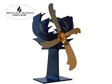 2 x ANTLER Heat powered fan- Eco fan Stove combustion wood heater Ecofan- Gold