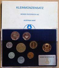 AUSTRIA 1989 ESTUCHE PROOF 8 MONEDAS Y MEDALLA