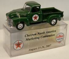 """Ertl 1950s Chevrolet Pickup Truck Green """"TEXACO"""" from 2007 Convention 1/64 Scale"""
