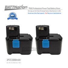 2x 18V EB1830H 3000mAh 3.0AH NiMh Hydride Battery for Hitachi 18-Volt Power Tool