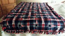 "New England Patriots""HANDMADE""XLarge/Soft Double Fleece Anti-Pill Plaid Blanket."