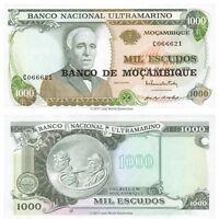 Mozambique 1000 Escudos 1972 (1976) P-119 Banknotes UNC