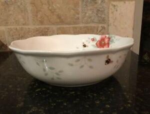 """Lenox Porcelain Butterfly Meadow Soup & Salad Bowl 7 3/4,"""" Louie Le Luyer 115825"""