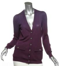 STELLA McCARTNEY Purple Ombre Button Pockets Cardigan Sweater IT40 US4 S NEW