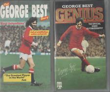 2 VHS VIDEOS THE GEORGE BEST STORY & GEORGE BEST GENIUS VIDEO AUTOBIOGRAPHY