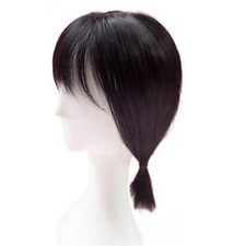 Synthetic Hair Mono Hairpiece for Hair Loss Clip in/on Hair Topper with Air Bang