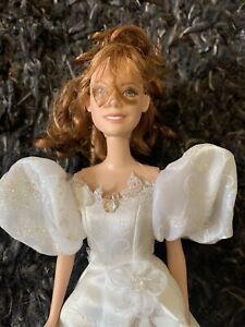 Disney Enchanted Fairytale Wedding Bride Amy Adams Giselle Barbie Doll W/ Dress