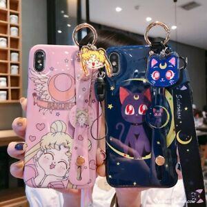 Sailor moon Anime Für iPhone 7/8 11 12 pro plus X/XS XR Case Hülle Schutzhülle