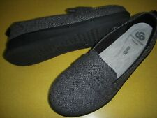 Clarks CLOUDSTEPPERS Sillian Hope Slip-On Loafers Women's 9.5 M Grey Tweed ~