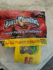 New Power Ranger Crepe Paper Party Streamers 10 yards
