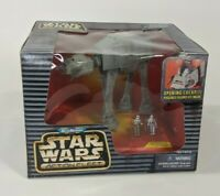 Vintage 1996 Micro Machines Star Wars Action Fleet Imperial AT-AT Toy #01