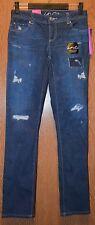 Womens Distressed Printed INC Denim Boyfriend Skinny Jeans Size 0 NWT NEW $99.50