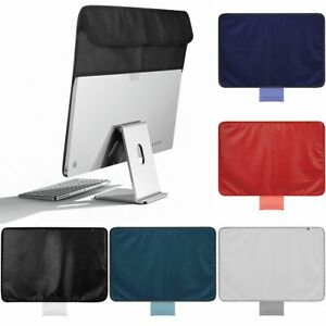 Computer Dustproof PU Leather Display Cover Back Pocket For Apple 24 Inch IMac