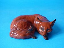 COLLECTABLE 1ST VERSION CURLED VINTAGE BESWICK STAFFORDSHIRE RED FOX HUNTING