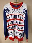 Walnut & 39th Holiday Ugly Christmas Sweater Single & Ready To Jingle XL