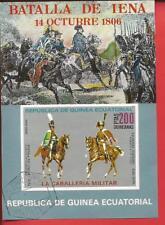 Kavalleristen Reiter Pferde Block 208 Äquatorialguinea