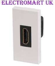 HDMI seul 1 Gang Module plaqué or contacts prise sur l'arrière 50 mm x 25 mm