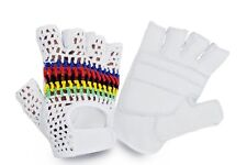 Cycling Gloves Half Finger Leather With Crochet Back Padded Glove Vintage Style