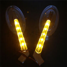 New LED Turn signal Oval Racing mirrors fit for Harley Low Rider V-Rod CHROME