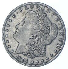 W@W Early 1891 Morgan Silver Dollar - 90% US Coin - Nice Coin *936