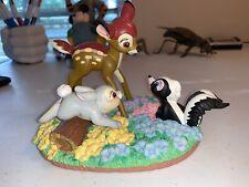 Walt Disney Animated Classics Bambi Thumper Flower Figurine Resin Figure RARE!