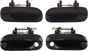 NEW Front & Rear Outside Door Handles Set of 4 Black for 2000-2006 Nissan Sentra
