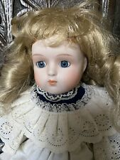 Vintage Collector's Doll With Blonde Ringlets. 16 Inches