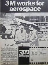 3/1970 PUB 3M COMPANY AEROSPACE PRODUCTS SCOTCH MICROFILM ABRASIVES ORIGINAL AD