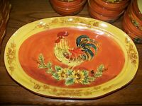 """17"""" PLATTER  Maxcera China ORANGE ROOSTER French Country UNUSED"""