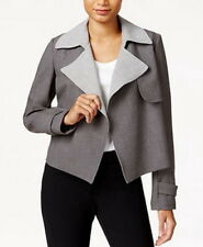 Tommy Hilfiger Contrast-Trim Trench Jacket Size 16 #C442...