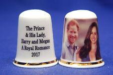 The Prince & His Lady, Harry & Megan A Royal Romance 2017 China Thimble B/01