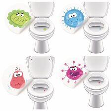 Toilettensticker MONSTER SET, Urinal Aufkleber Sticker für Toiletten Bad-Zubehör