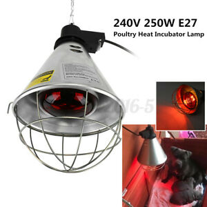 E27 Poultry Heat Incubator Lamp Red Infrared Light Bulb for Reptile Pet Brooder