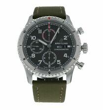 Cuadrante con Cronógrafo Breitling Aviator 8 43mm Verde Para hombres Reloj Automático A13316