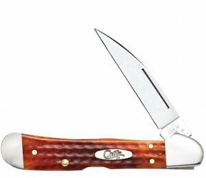 Case xx Copperlock Knife Jigged Harvest Orange Bone 7397 Stainless Pocket Knives