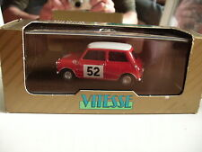 Vitesse Morris Cooper S 65 Monte carlo Winner in Red on 1:43 in box