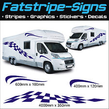 4m MOTORHOME VINYL CHECKER GRAPHICS STICKERS DECALS CAMPER VAN CARAVAN HORSEBOX